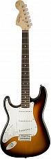FENDER SQUIER AFFINITY STRATOCASTER LEFT HANDED LRL BROWN SUNBURST