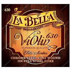 LA BELLA 630 Violin String Set, Chrome Steel Flat Wound, струны для скрипки 4/4